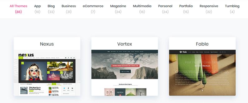 Choisir son thème WordPress