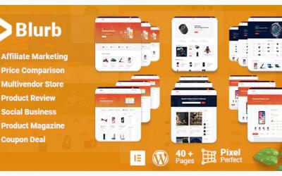 Avis sur Blurb : Le thème WordPress pour votre blog d'affiliation